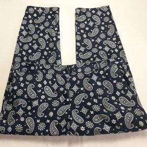Talbots 14P Blue/White Pants